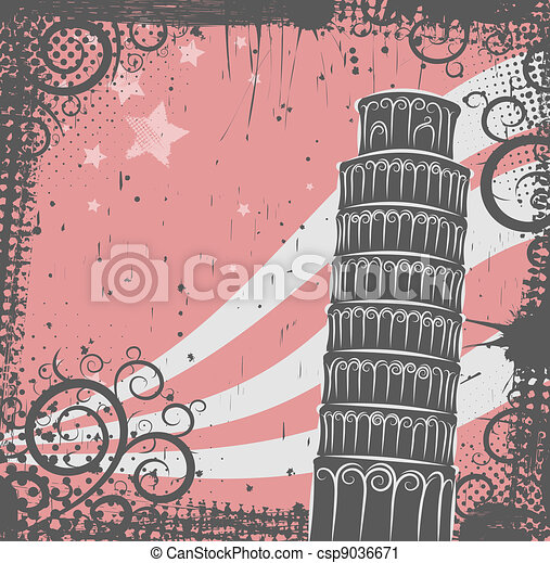 Tower of Pisa background - csp9036671