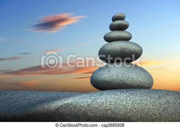 Tower stone in balance - csp2685938