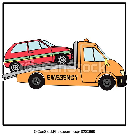 towing trucks with broken cars in vector style clip art vector rh canstockphoto com tow truck graphics vector custom tow truck graphics