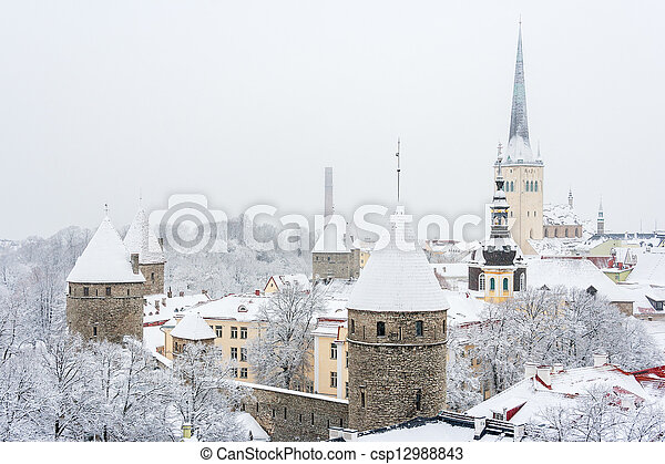 town., antigas, estónia, tallinn - csp12988843