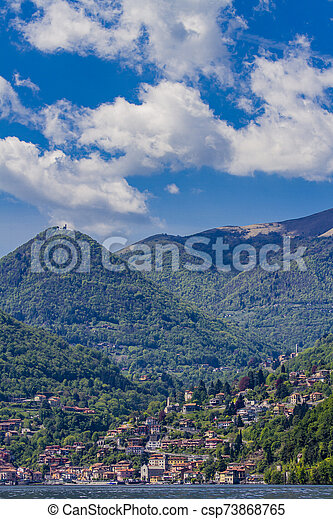 Town Argegno on Lake Como, Italy - csp73868765