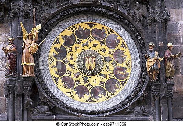 town clock in Prague - csp9711569