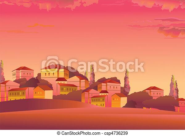 Town. - csp4736239
