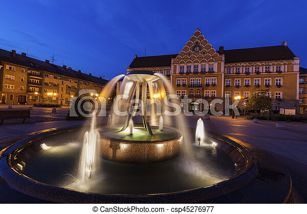 Town Hall on Main Square in Cesky Tesin - csp45276977