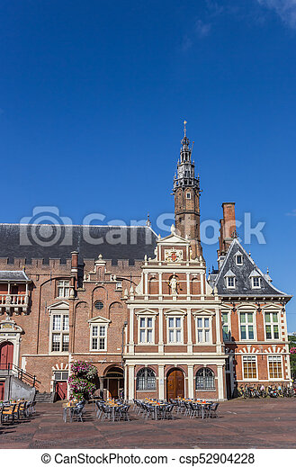 Town hall on the main market square of Haarlem - csp52904228