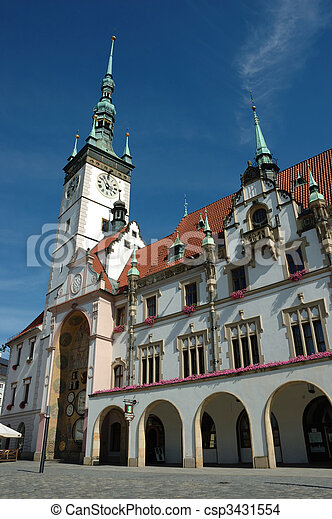Town Hall on the main square of Olomouc - csp3431554