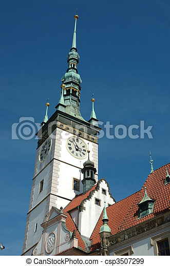 Town Hall on the main square of Olomouc - csp3507299