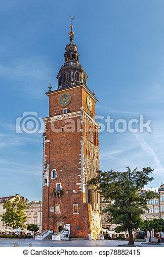 Town Hall Tower, Krakow, Poland - csp78882415