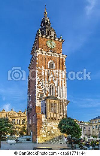 Town Hall Tower, Krakow, Poland - csp91771144