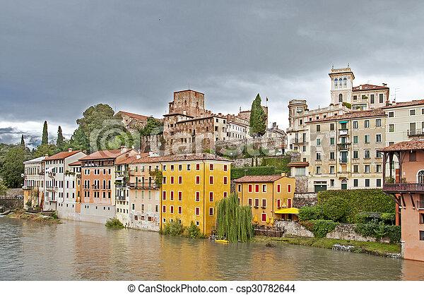 Town in Italy - Bassano del Grappa - csp30782644