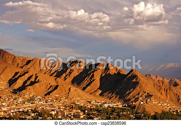 Town in the High Mountains - csp23838596