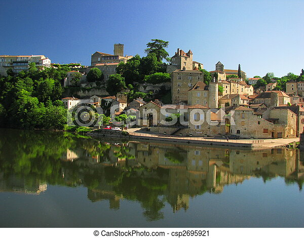 Town Mount Puy Eveque - csp2695921