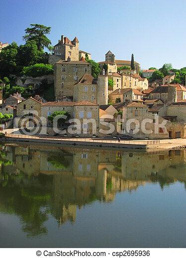 Town Mount Puy Eveque - csp2695936