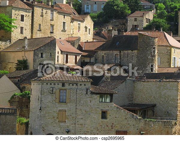 Town Mount Puy Eveque - csp2695965