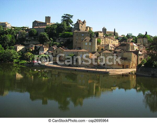Town Mount Puy Eveque - csp2695964