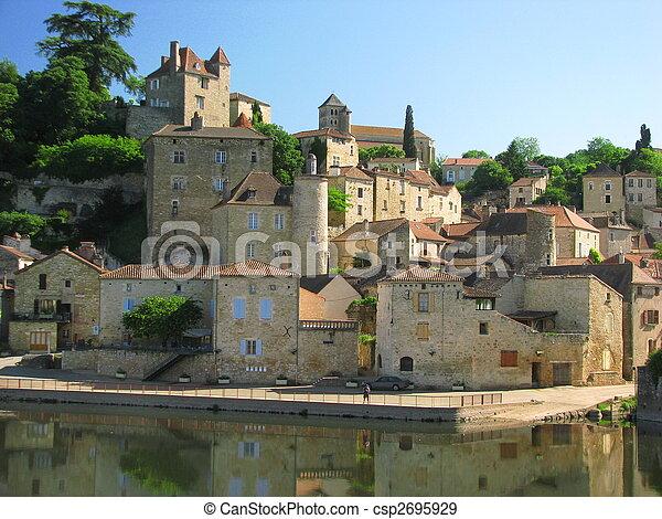 Town Mount Puy Eveque - csp2695929