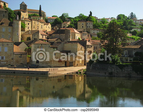Town Mount Puy Eveque - csp2695949
