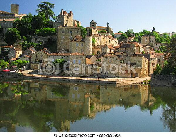 Town Mount Puy Eveque - csp2695930