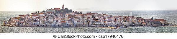 Town of Primosten panoramic view - csp17940476