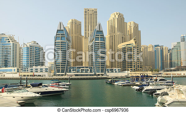 Town scape at summer. Dubai Marina. - csp6967936