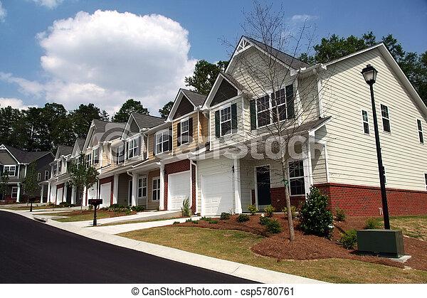 townhomes, condominiums., 行, 或者, 新 - csp5780761