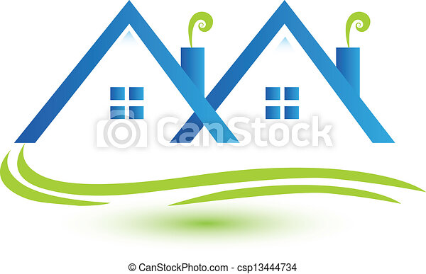 Townhouses real estate logo vector - csp13444734
