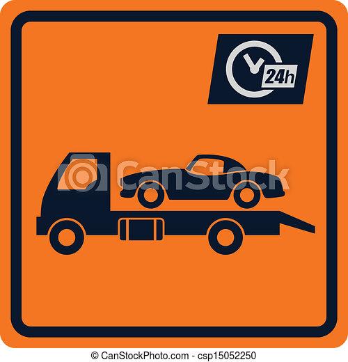 tows., vettore, segno camion - csp15052250