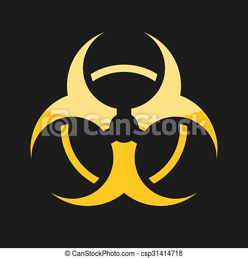 toxic icon bio hazard sign toxic sign on dark background