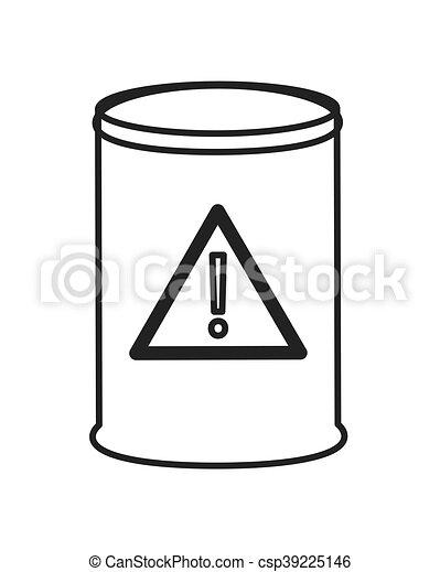 Flat design toxic waste barrel icon vector illustration.