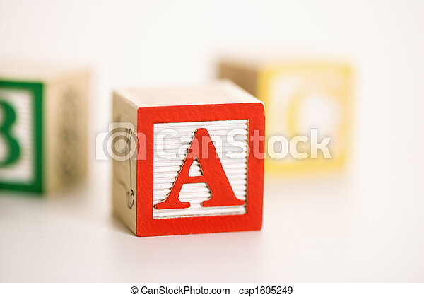 Toy alphabet blocks. - csp1605249