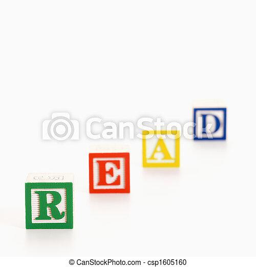 Toy alphabet blocks. - csp1605160