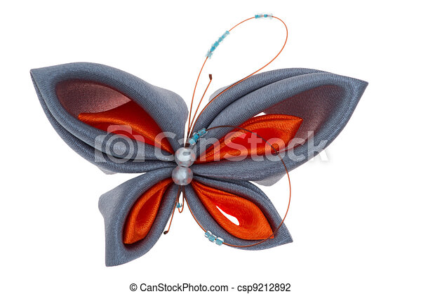 toy butterfly made of ribbons - csp9212892