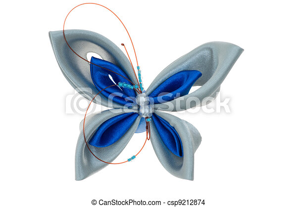 toy butterfly made of ribbons - csp9212874