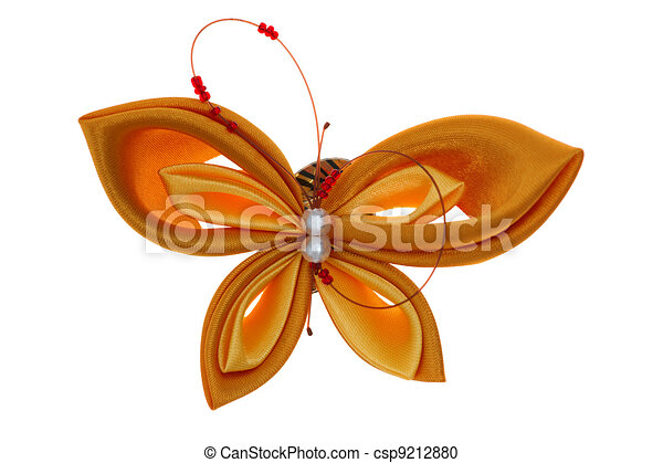 toy butterfly made of ribbons - csp9212880