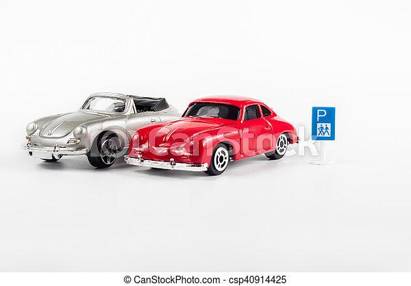 Toy cars parking - csp40914425