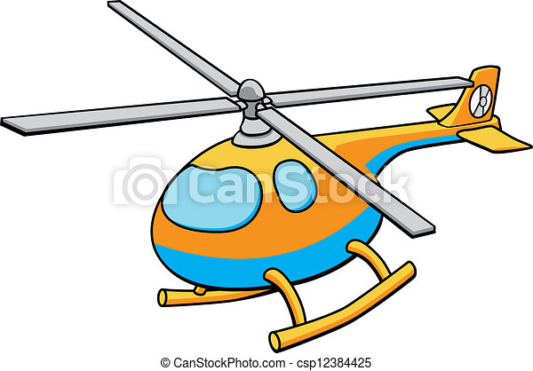 Toy Helicopter Illustration - csp12384425