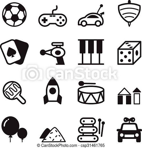 toy icon set toy icons