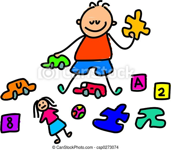 toy kid little boy sat playing with toys toddler art drawing rh canstockphoto com clipart of toys black and white clipart toys story