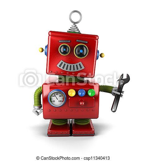 Toy mechanic robot - csp11340413