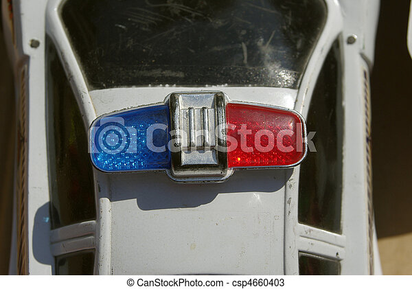 Toy police car strobe light
