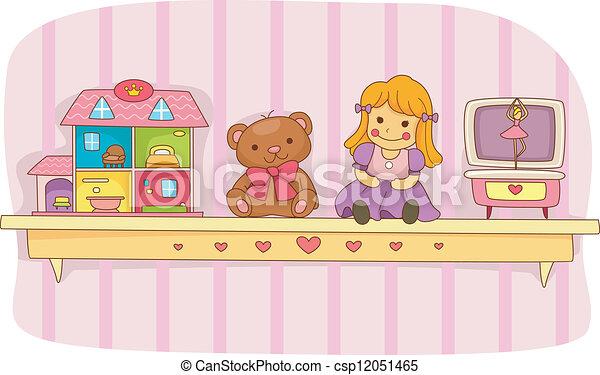 Toy Shelf - csp12051465