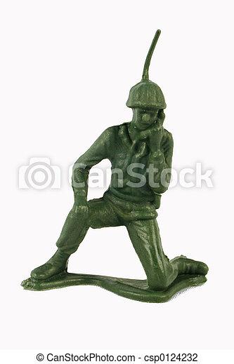 Toy Soldier Kneeling - csp0124232