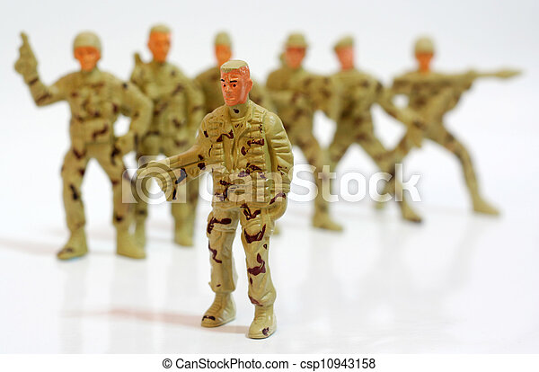 Toy soldiers. - csp10943158