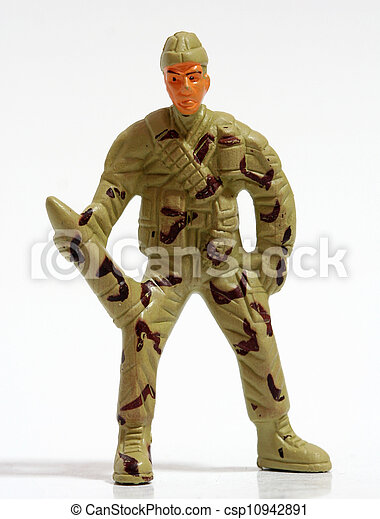 Toy soldiers. - csp10942891