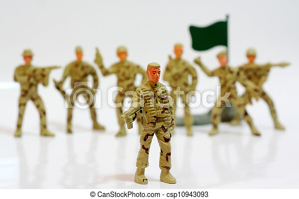 Toy soldiers. - csp10943093