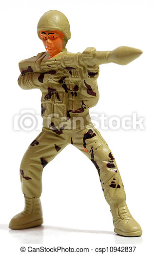 Toy soldiers. - csp10942837