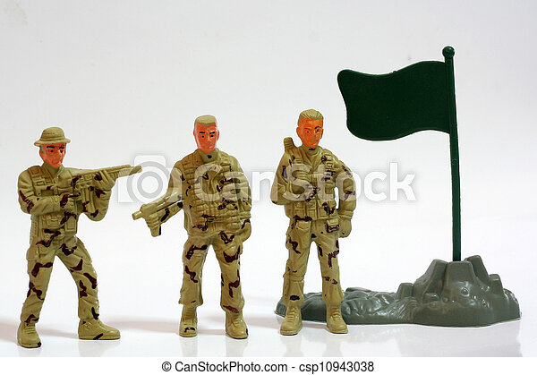 Toy soldiers. - csp10943038