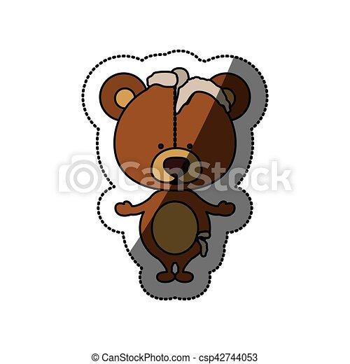 Toy teddy bear damaged design - csp42744053