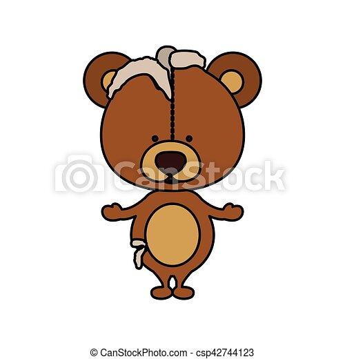 Toy teddy bear damaged design - csp42744123