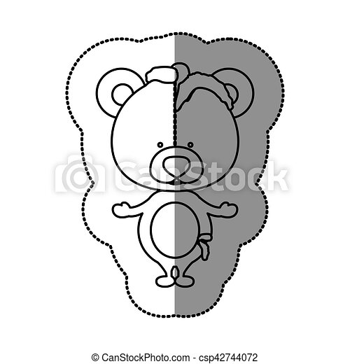 Toy teddy bear damaged design - csp42744072